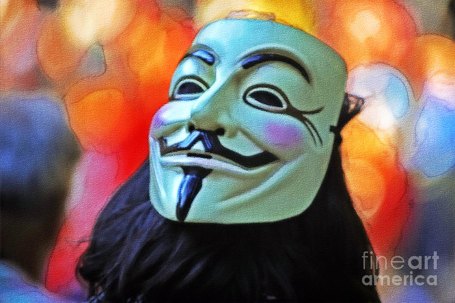 Anonymous Photograph - We Are The 99 by Stefano Senise