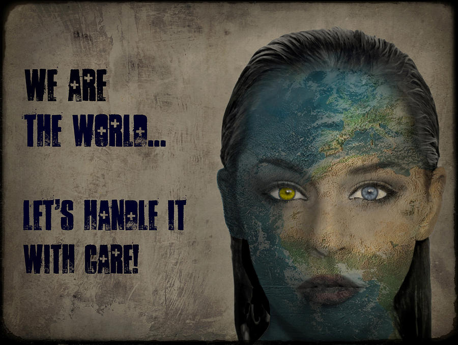 World Digital Art - We Are The World by Marie  Gale