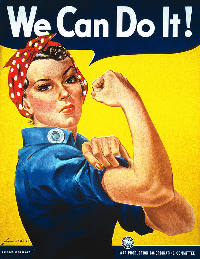 World War Ii Painting - We Can Do It by J Howard Miller