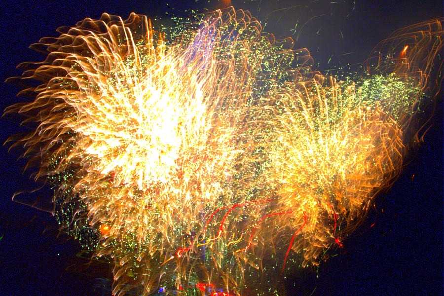 Firework Photograph - We Cant Stop The Fire by Tim Leung