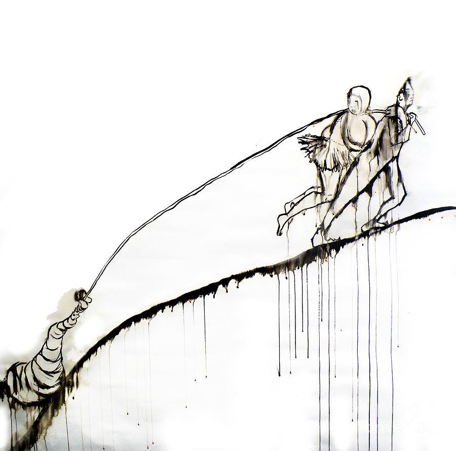 Goya Drawing - We Dragged by Jain McKay