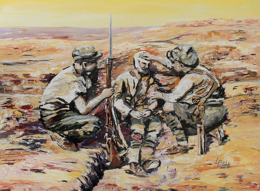 Gallipoli Painting - We Have You Mate by Leonie Bell