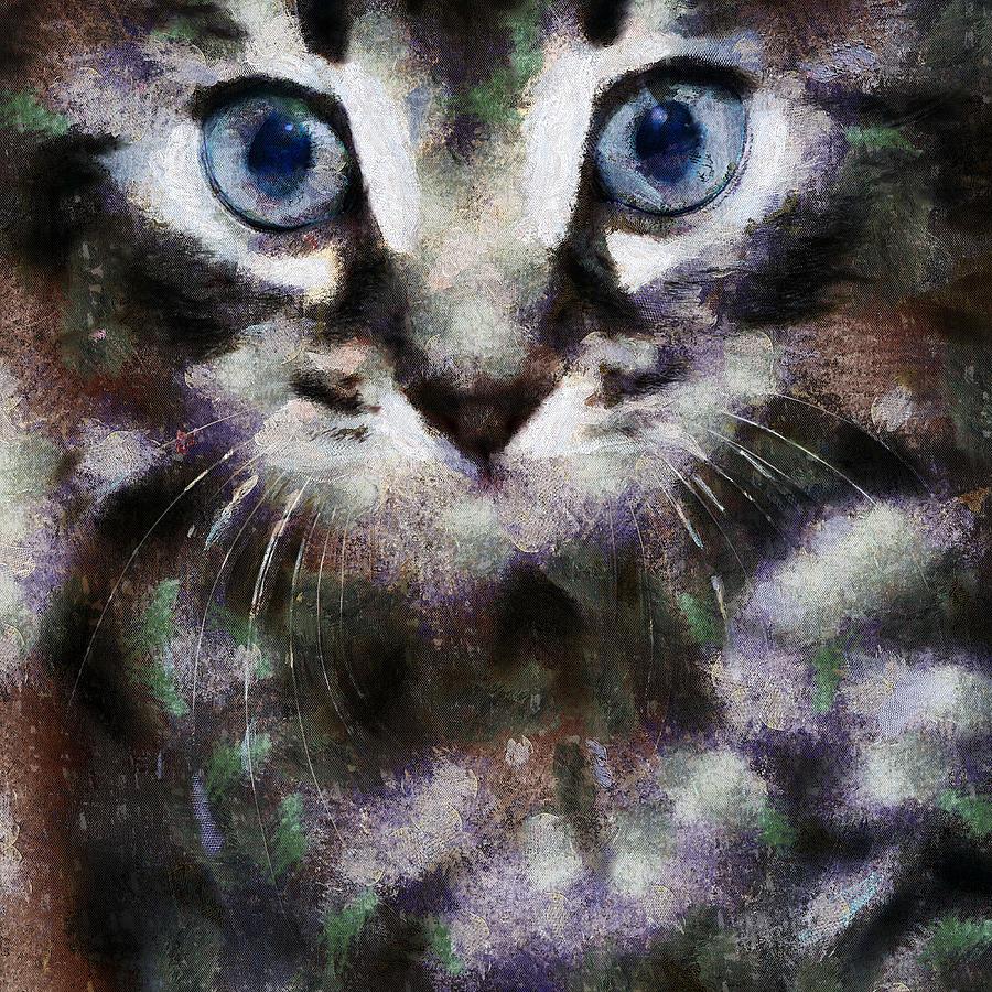 Kitty Digital Art - We Live In The Same World by Yury Malkov