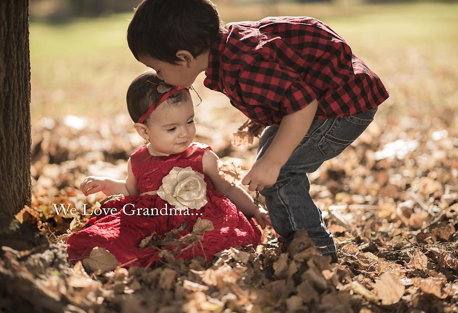 We Love Grandma Photograph by Israel Marino