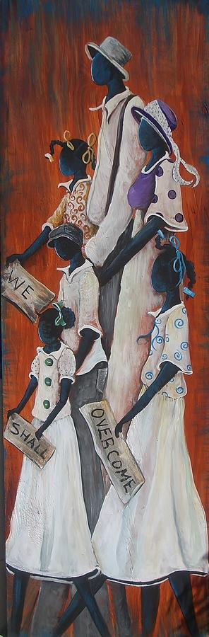 Children Painting - We Shall Overcome by Sonja Griffin Evans