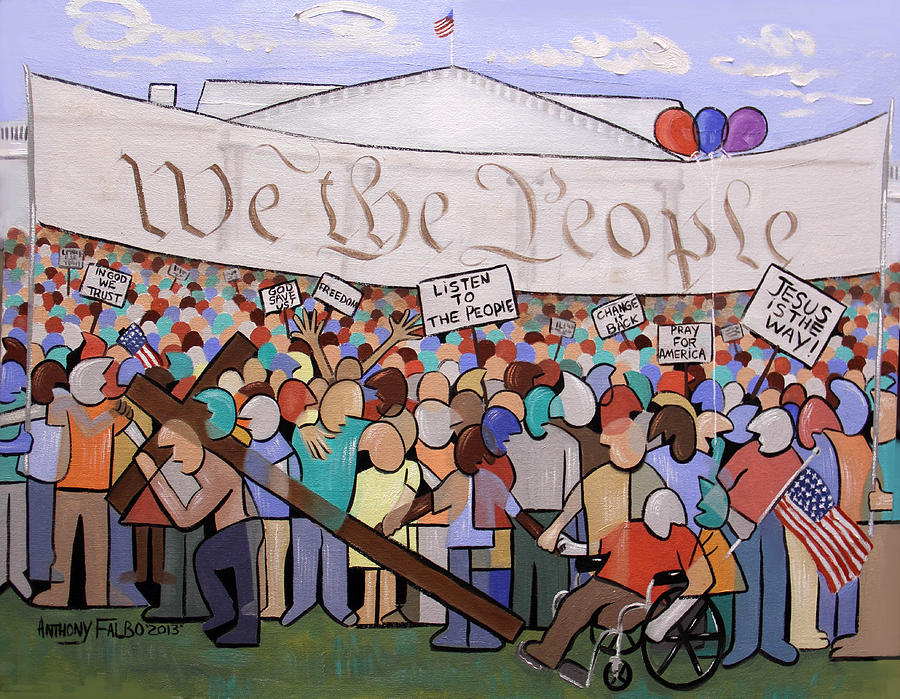 We The People Painting - We The People by Anthony Falbo