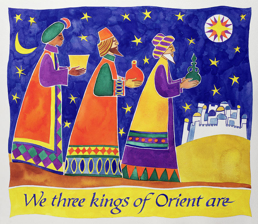 we three kings of orient are painting by cathy baxter three kings clipart 3 kings clipart