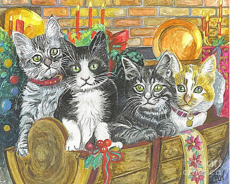 Christmas Card Art Sale Painting - In Harmony by Carol Wisniewski