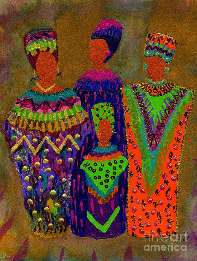 Women Painting - We Women 4 by Angela L Walker