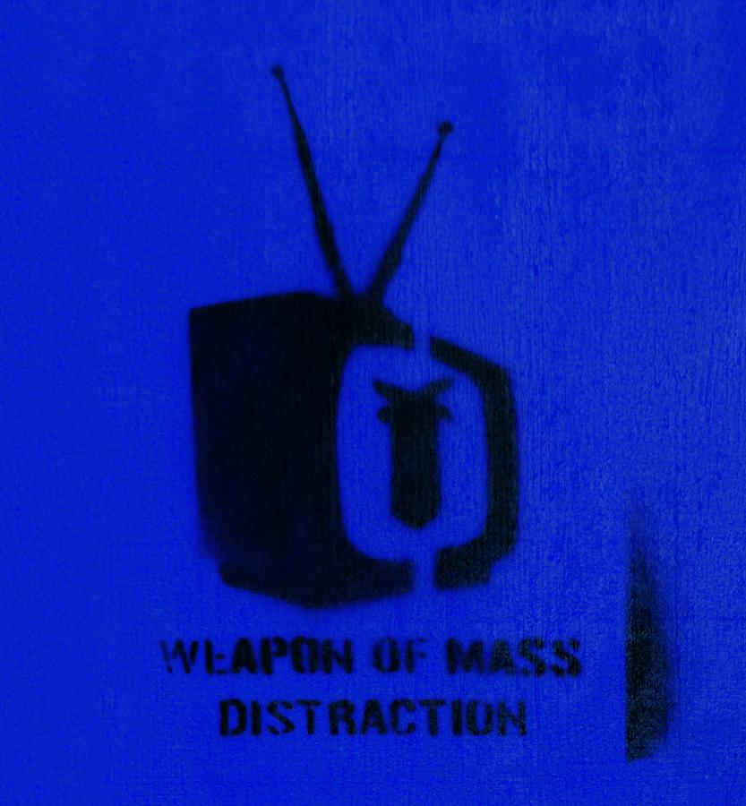 Stencil Photograph - Weapon Of Mass Distraction by A Rey