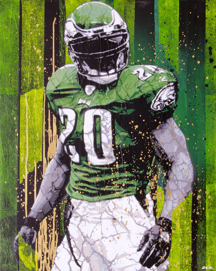 Brian Dawkins Painting - Weapon X by Bobby Zeik