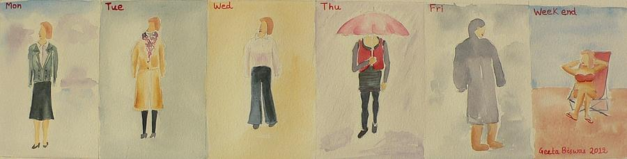 Weather Painting - Weather Forecast by Geeta Biswas