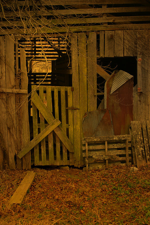 Luminism Photograph - Weathered Barn Detail by Nina Fosdick