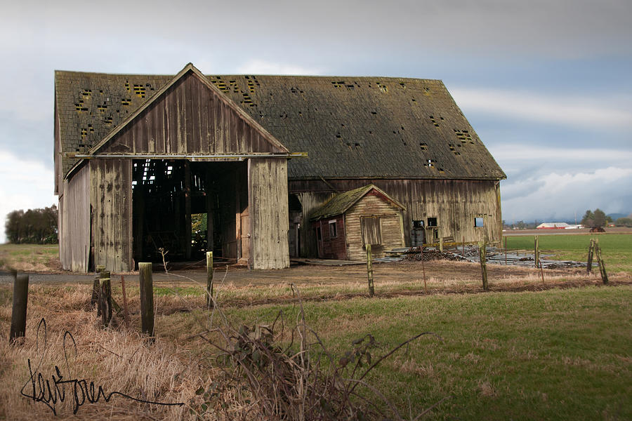 Barn Photograph - Weathered Barn Of Skagit County by Kent Sorensen