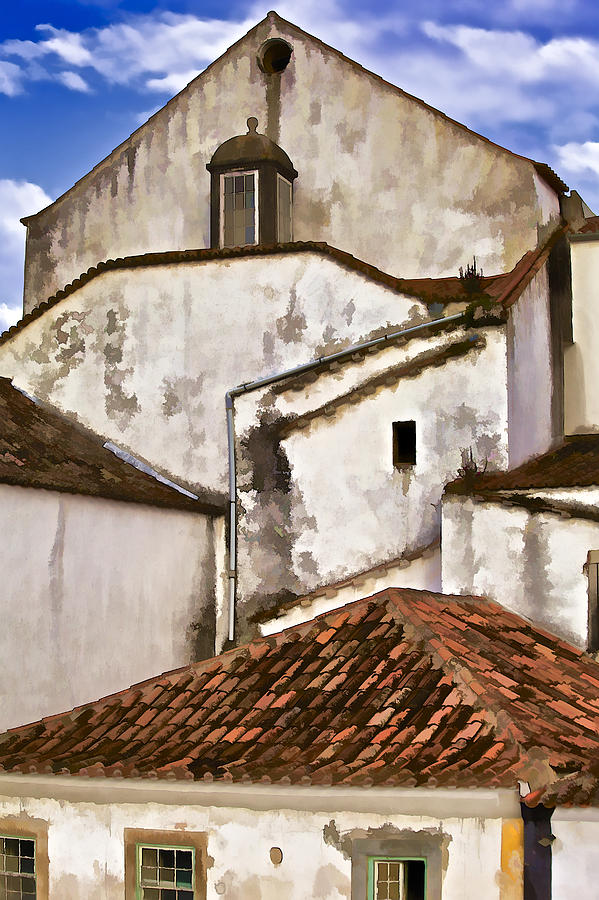 Casa Photograph - Weathered Buildings Of The Medieval Village Of Obidos by David Letts