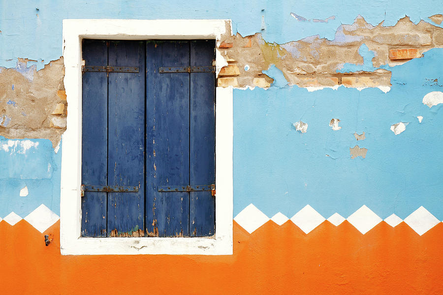 Weathered Decorated Facade With Window Photograph by Bremecr