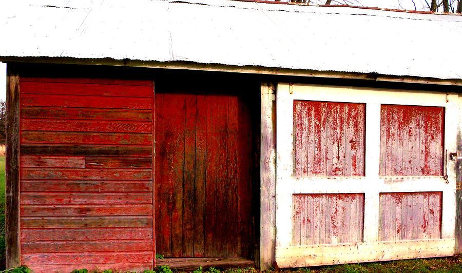 Weathered Red Barn Door Photograph By Mykul Anjelo