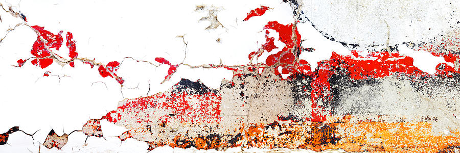 Abstract Photography Photograph - Weathered Sign Pano 2094 5 6 by Bob Hills