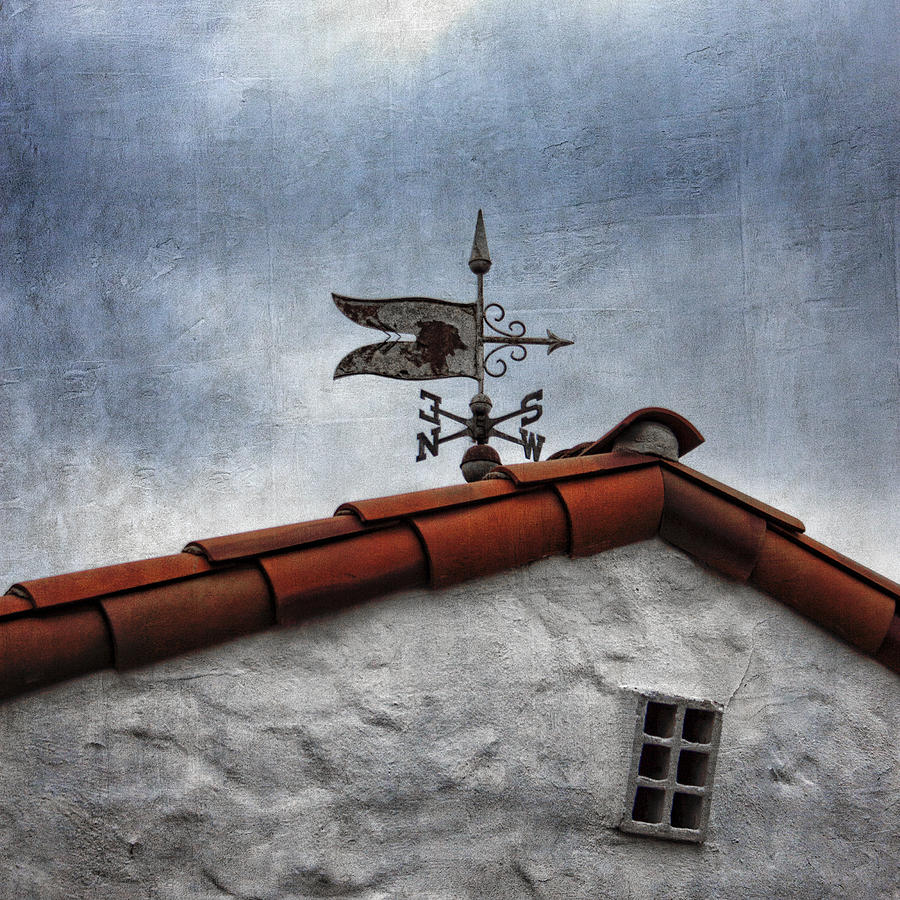 Weathervane Photograph - Weathered Weathervane by Carol Leigh