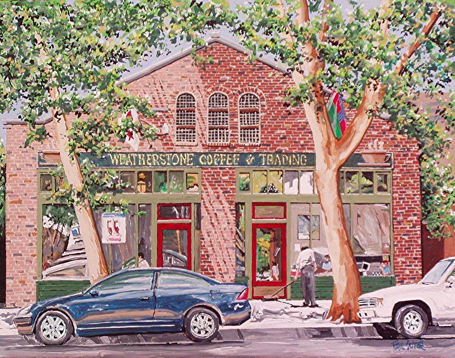 Sacramento Painting - Weatherstone Coffee by Paul Guyer