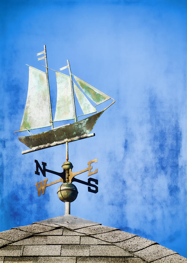 Weathervane Photograph - Weathervane Clipper Ship by Carol Leigh