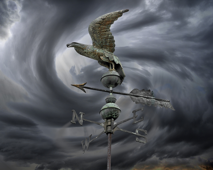 Navigation Photograph - Weathervane by Steven Michael