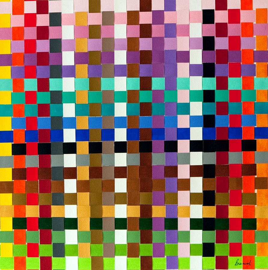 Weave #1 Multi-color Painting by Thomas Gronowski