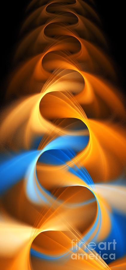 Weave Digital Art - Weaving Color  by Elizabeth McTaggart