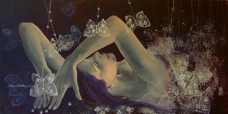 Art Painting - Weaving Lace Wings... by Dorina  Costras
