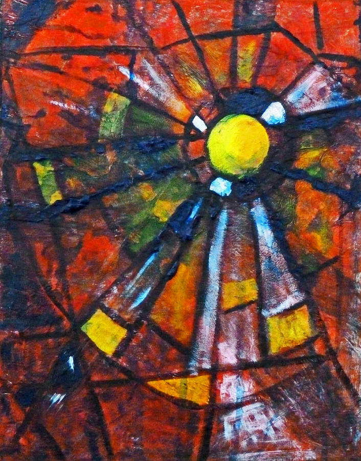 Geometric Mixed Media - Web by Nancy Merkle