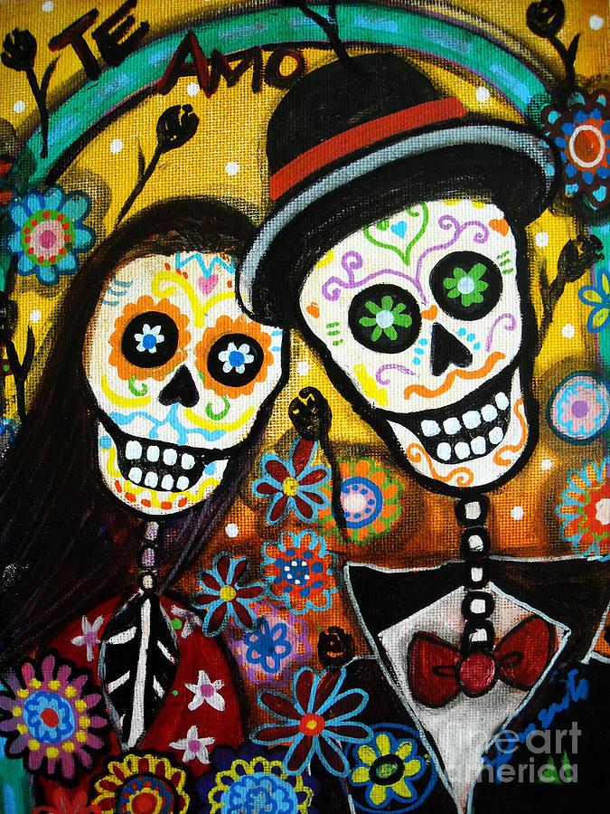 Dia Painting - Wedding Dia De Los Muertos by Pristine Cartera Turkus