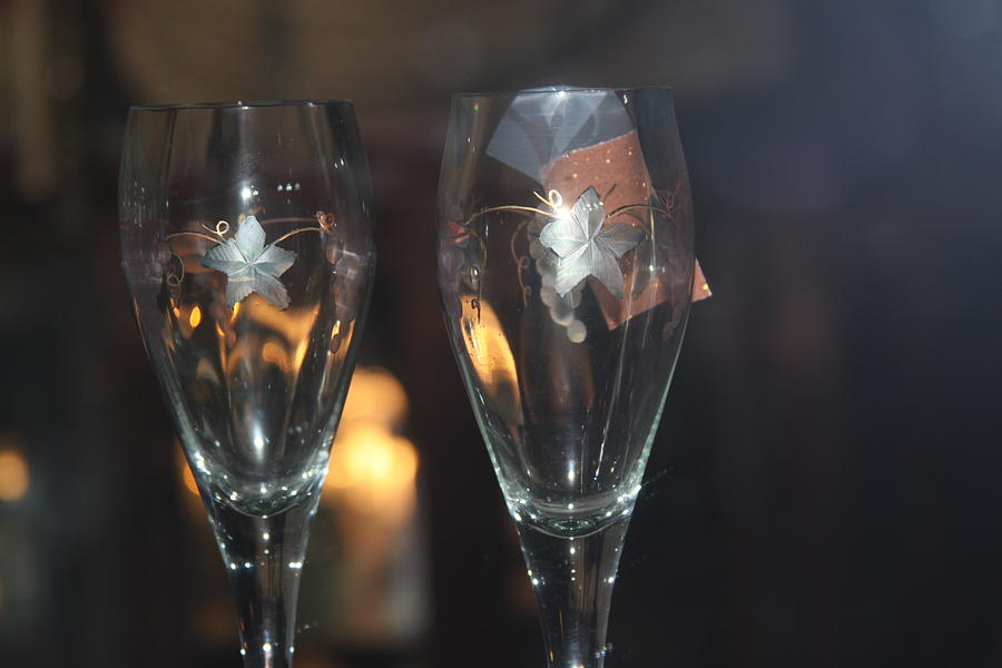 Wine Glasses Photograph - Wedding Glasses by Donald Torgerson