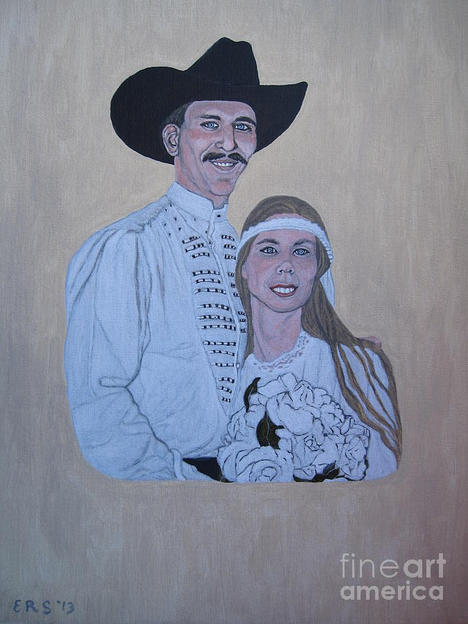 Marriage Painting - Wedding Portrait by Elizabeth Stedman