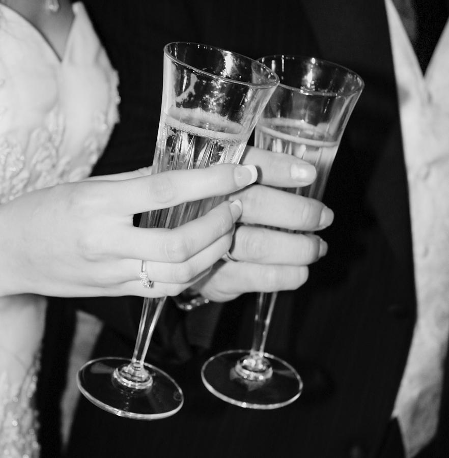 Champagne Photograph - Wedding Toast by Valerie Loop