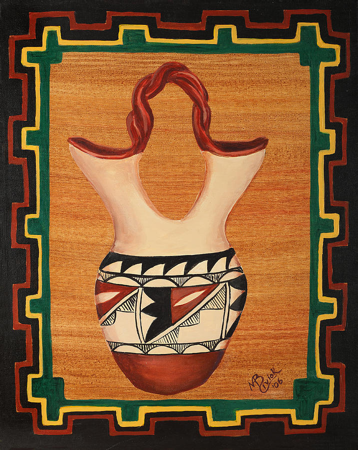 Pottery Painting - Wedding Vase by Mary Anne Civiok
