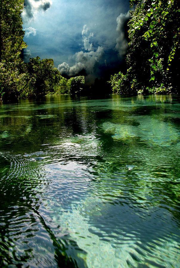 Landscape Water Blue Green Paradise Nature Beach River Jungle Storm Fine Art Beautiful Refreshing Deep Photograph - Weekie Sky by AR Annahita