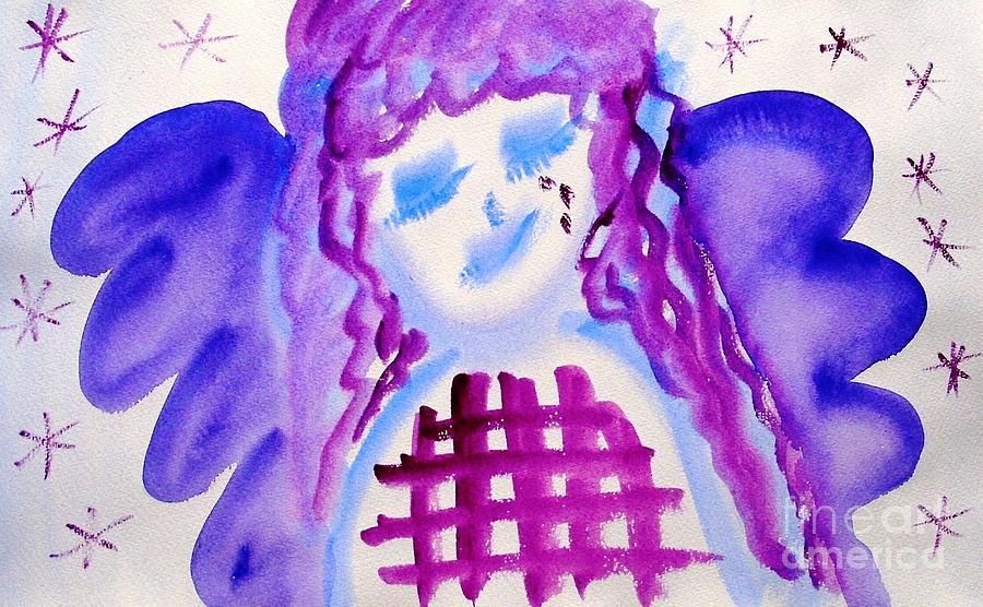 Angel Painting - ...weeping Angel... by Jutta Gabriel