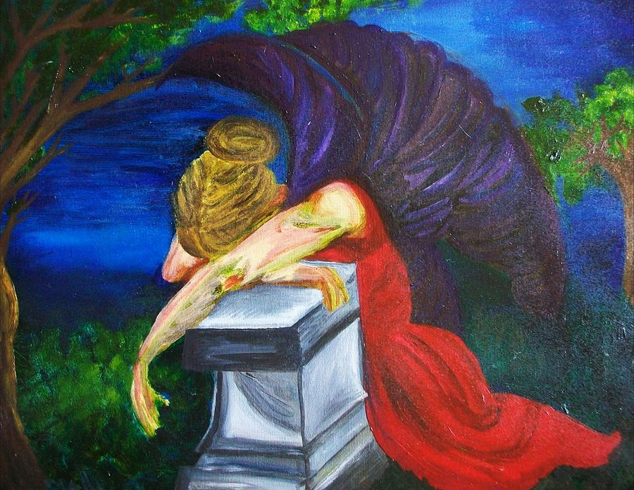 Angel Painting - Weeping by Jennifer Churchill