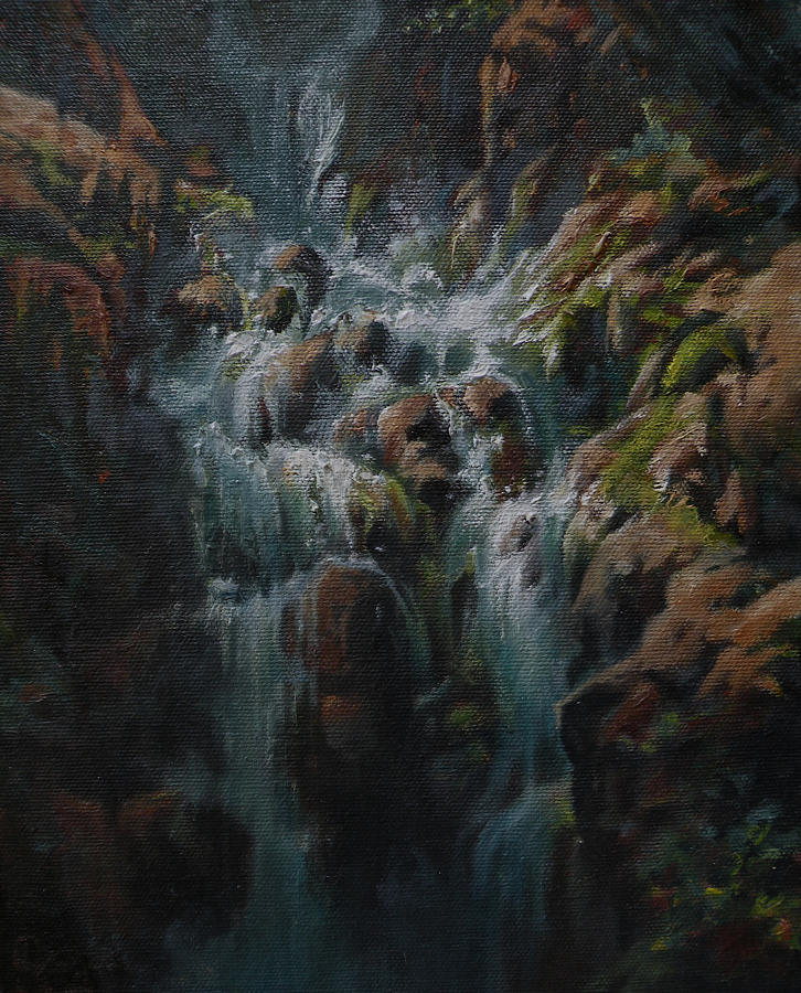 Glacier National Park Painting - Weeping Rocks by Mia DeLode