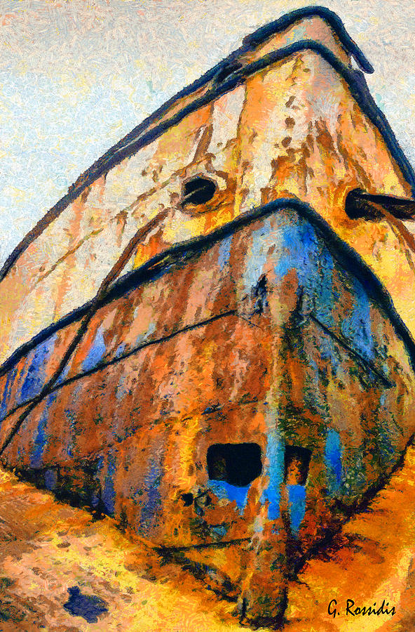 Rossidis Painting - Weeping Ship by George Rossidis
