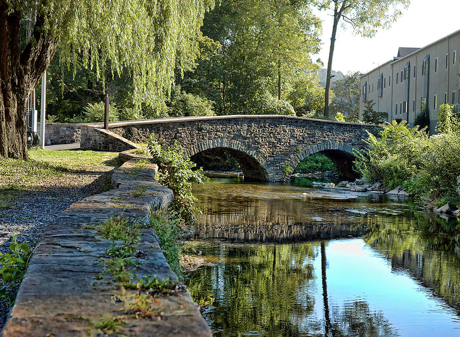 Quaker Town Photograph - Weeping Willow Bridge by Robert Culver