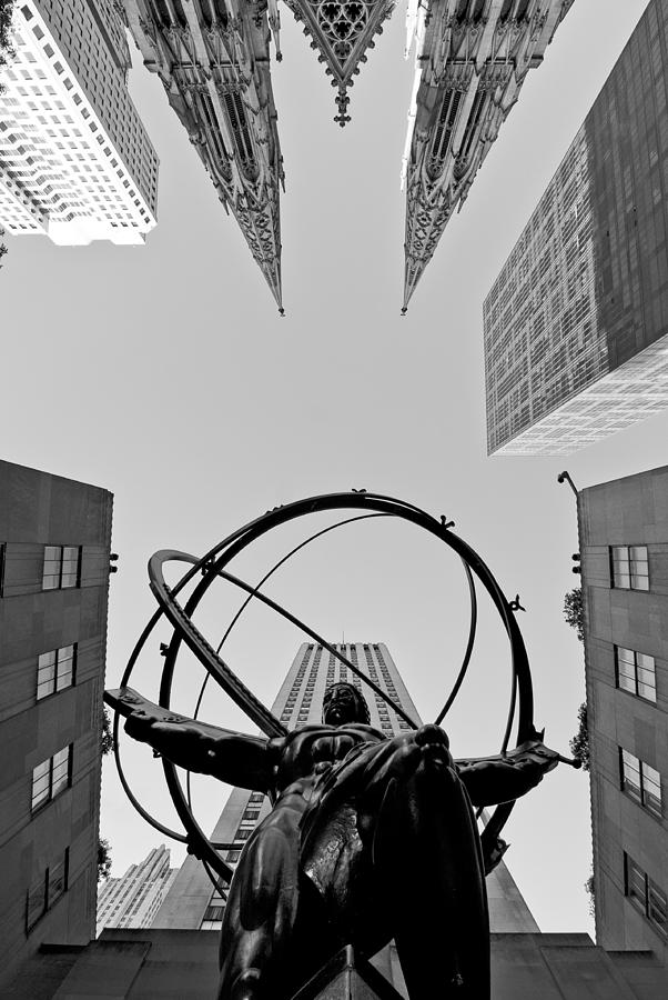 Atlas Photograph - Weight Of The World by Michael Dorn