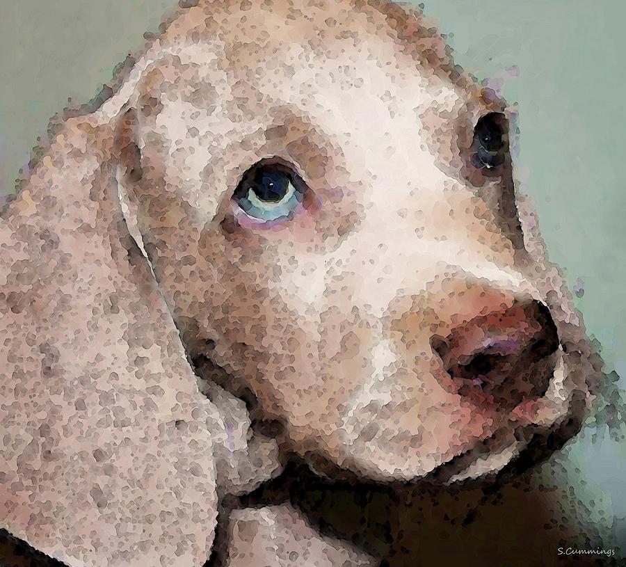 Weimaraner Painting - Weimaraner Dog Art - Forgive Me by Sharon Cummings