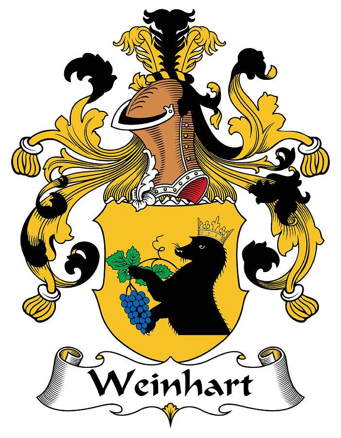 Genealogy Digital Art - Weinhart Coat of Arms German by Heraldry