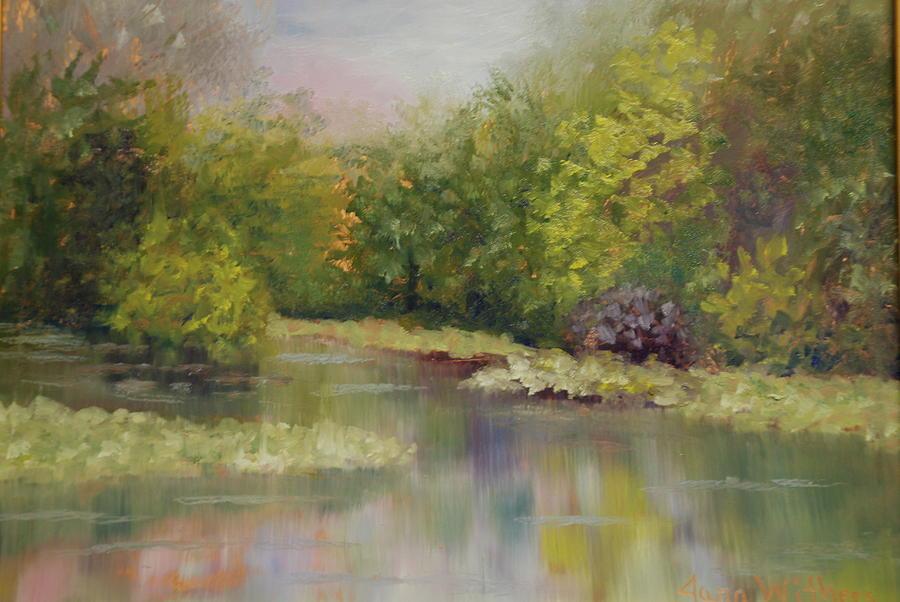 Landscape Painting - Wekiva Mist by Jana Withers