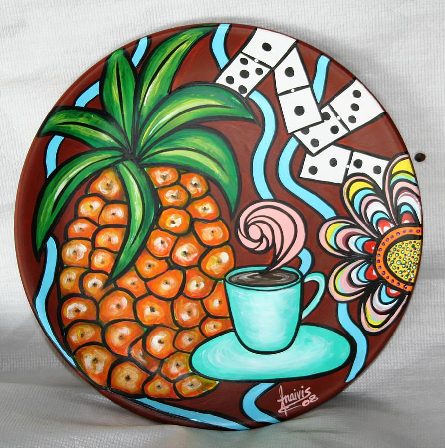 Cuban Art Painted On Ceramics Painting - Welcome by Annie Maxwell