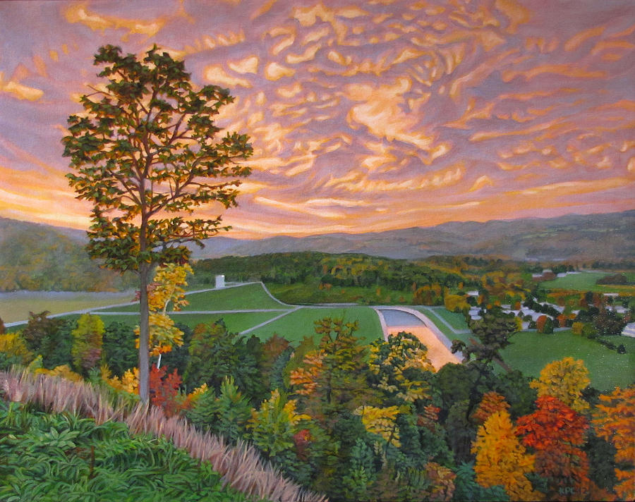 Landscape Painting - Welcome Center by Kenneth Cobb