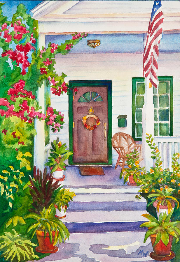 Home Painting - Welcome Home by Michelle Wiarda
