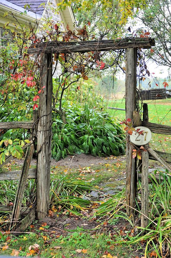 Gate Photograph - Welcome Home by Valerie Kirkwood