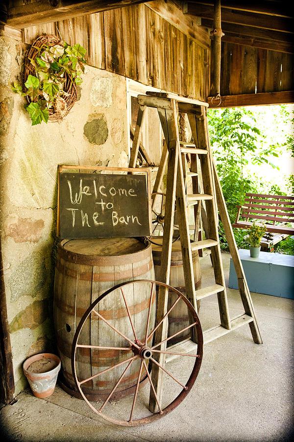 Barn Photograph - Welcome by Karen Varnas